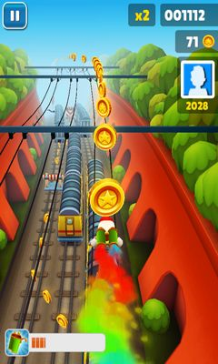 Subway Surfers - Android-Game Screenshots. Spielszene Subway Surfers.