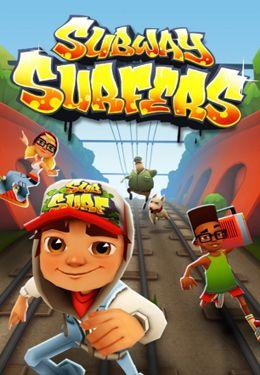Subway Surfers - iPhone-Game Screenshots. Spielszene Subway Surfers.